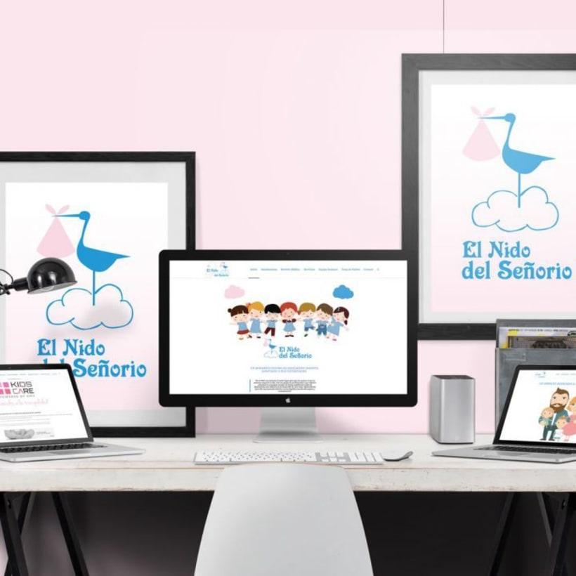 Creación identidad corporativa   logo   web de Escuela infantil  0