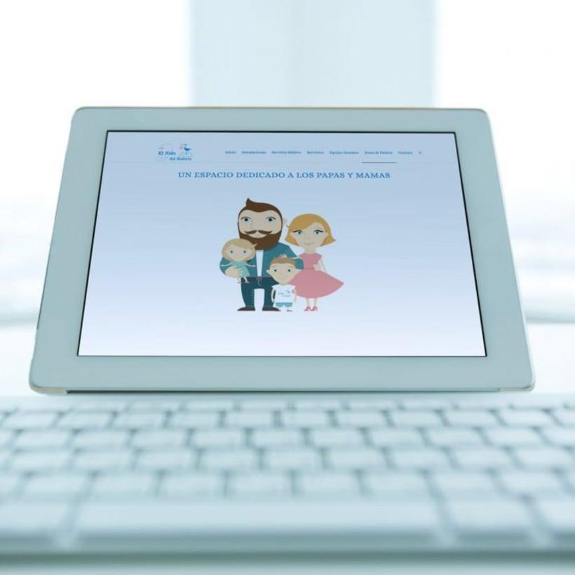 Creación identidad corporativa   logo   web de Escuela infantil  2