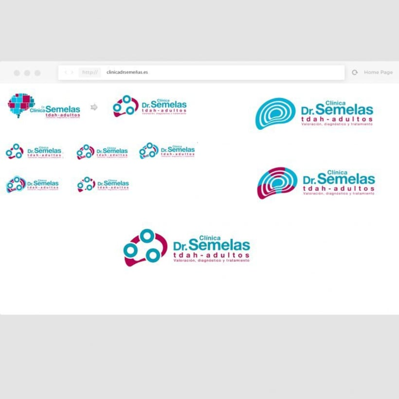 Clinica Dr Semelas,  Proyecto Web, diseño de logo, packaging branding -1