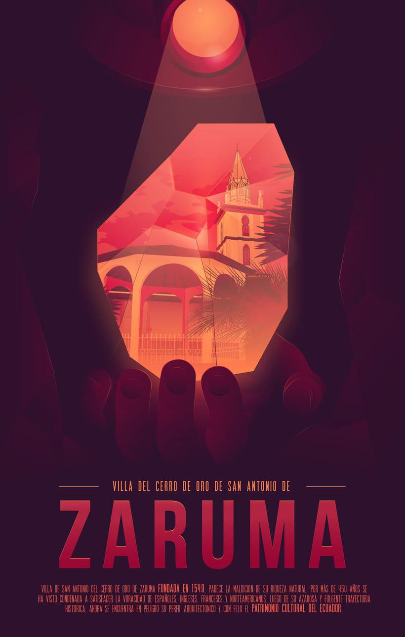 Mi Proyecto del curso: Poster Zaruma 0