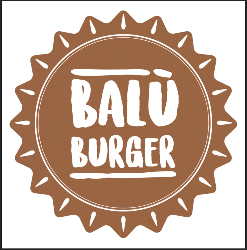 Balù Bureger logo and menu. 4