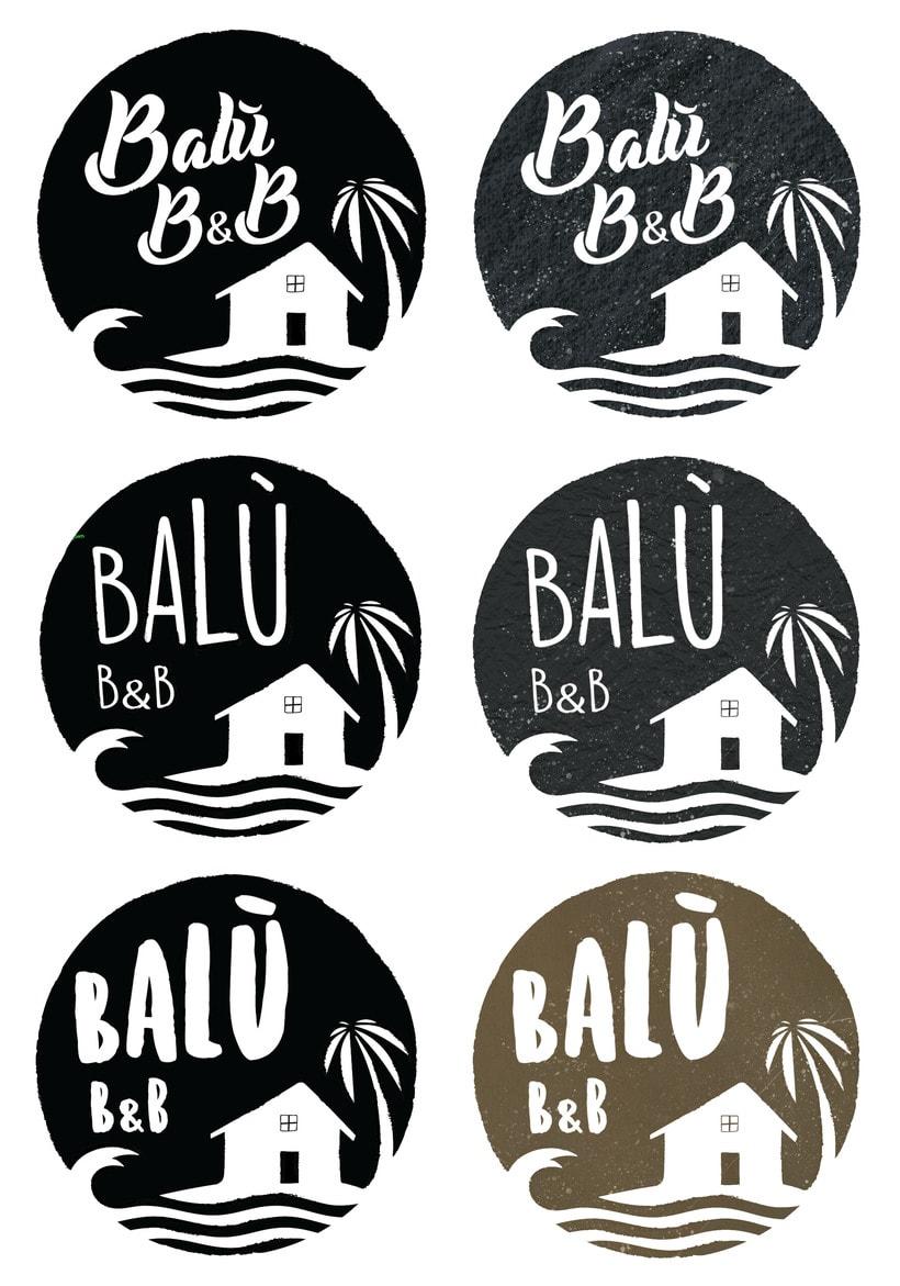 Balù Bureger logo and menu. 3
