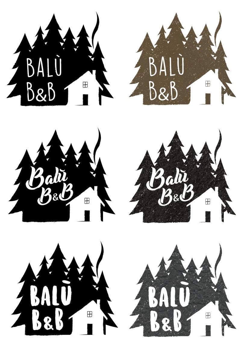 Balù Bureger logo and menu. 2