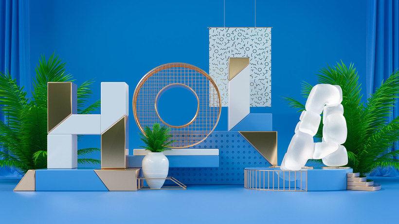 Los letterings y bodegones en 3D de Jose Checa 1