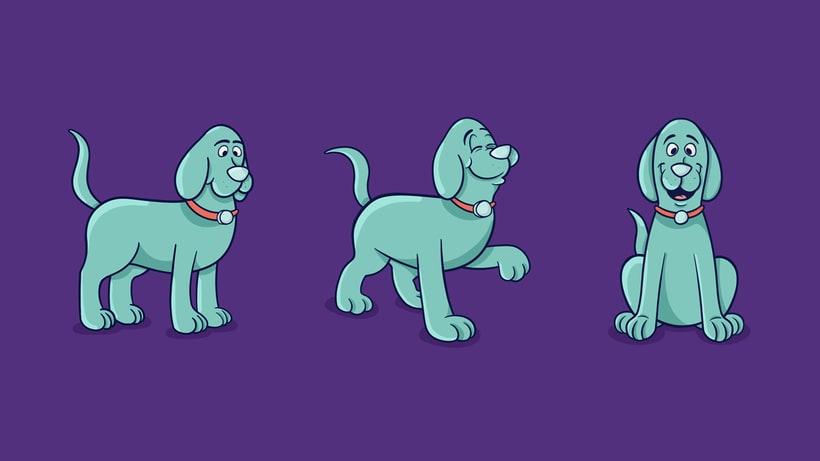 - DOG POSES - Comparto mi proceso de trabajo para la ilustración + Archivo final. 1