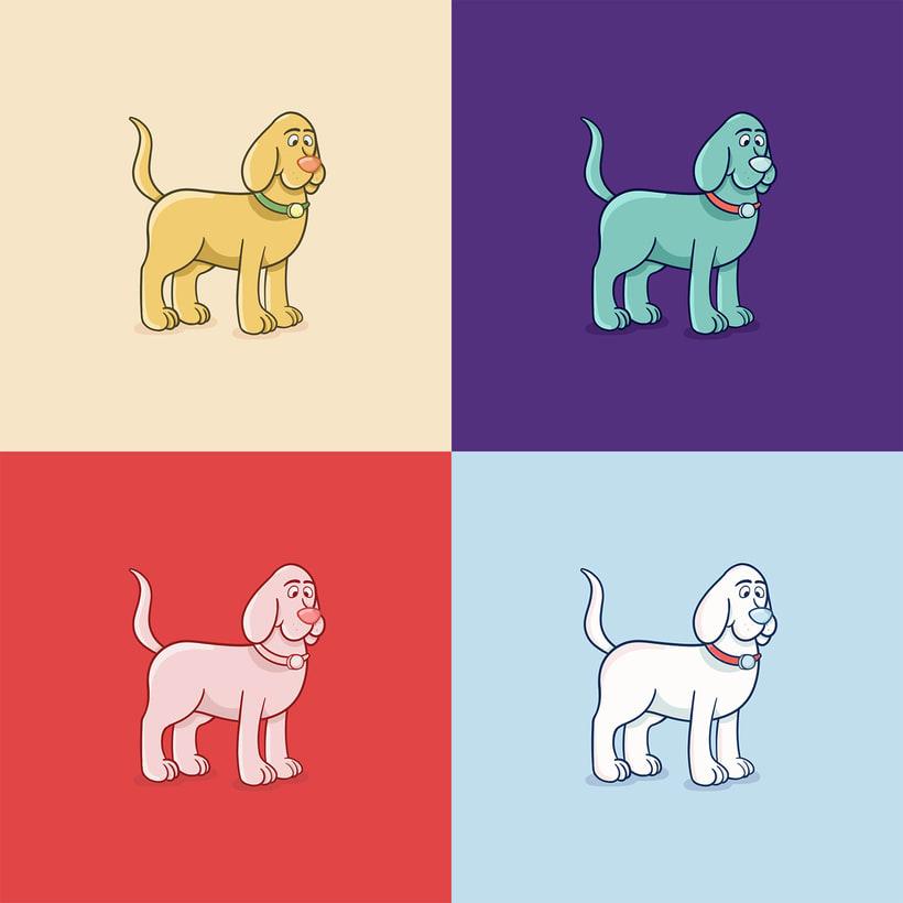 - DOG POSES - Comparto mi proceso de trabajo para la ilustración + Archivo final. 2