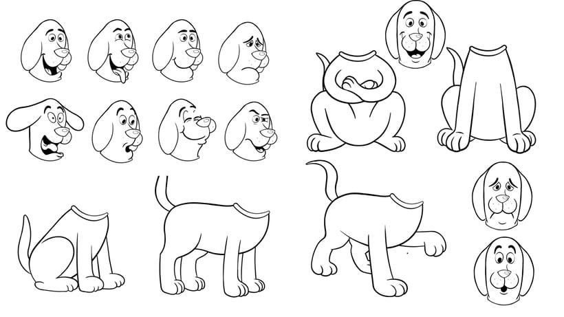 - DOG POSES - Comparto mi proceso de trabajo para la ilustración + Archivo final. 3