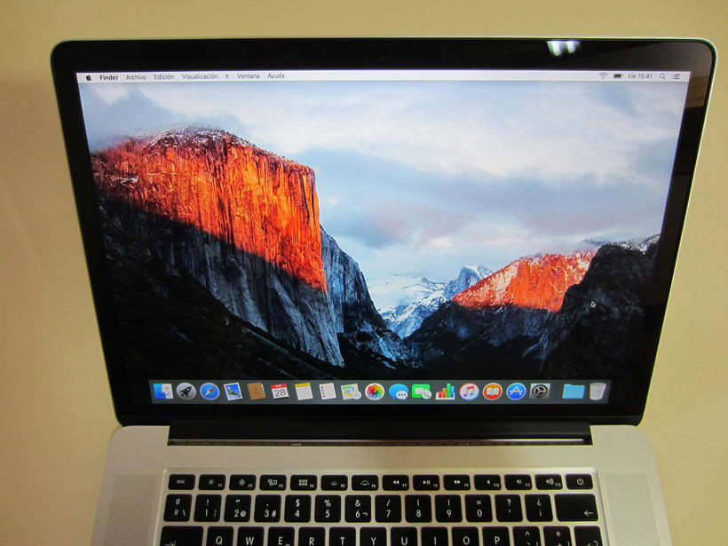 "MacBook Pro Retina 15"", i7 2,5 GHz, 16 GB de RAM, NVIDIA GeForce GT 750M 2 GB y 500 GB SSD 10"