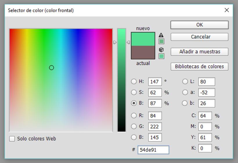 Photoshop: el selector de color se me ha cambiado 1