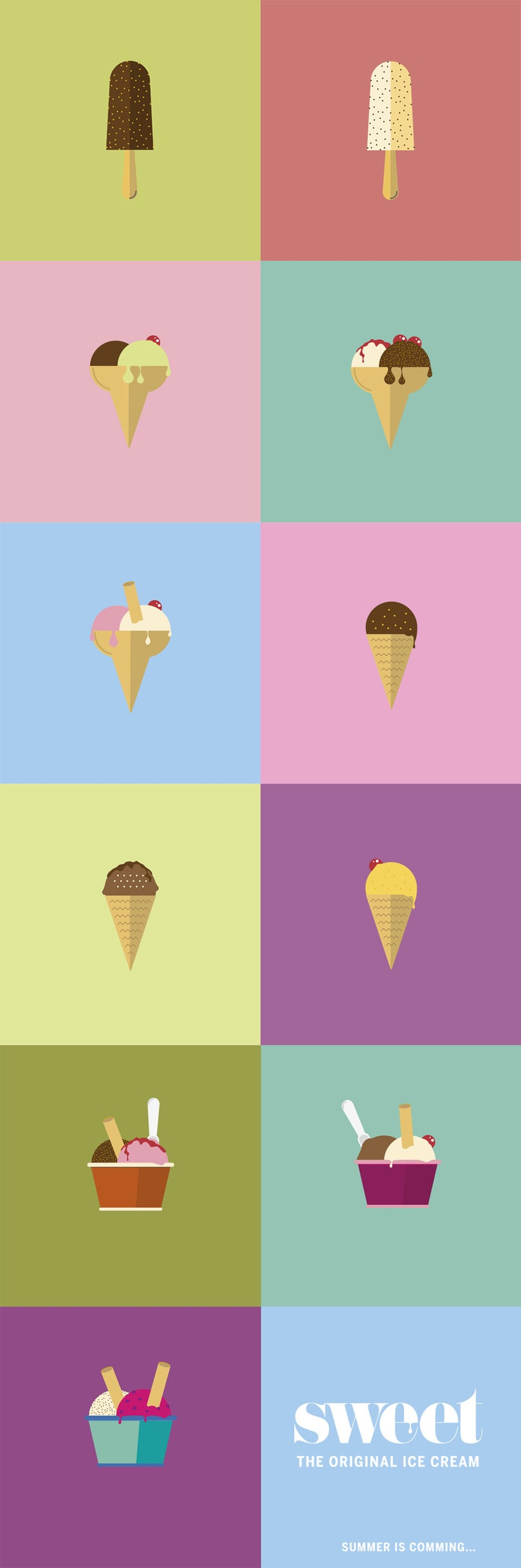 Sweet ice cream poster 2
