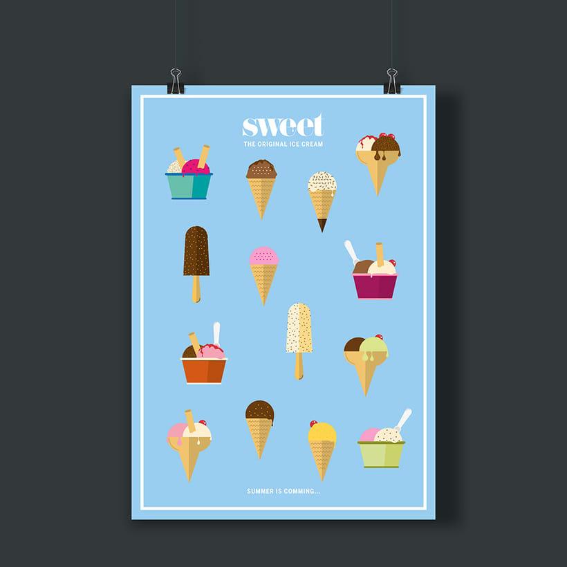 Sweet ice cream poster 0