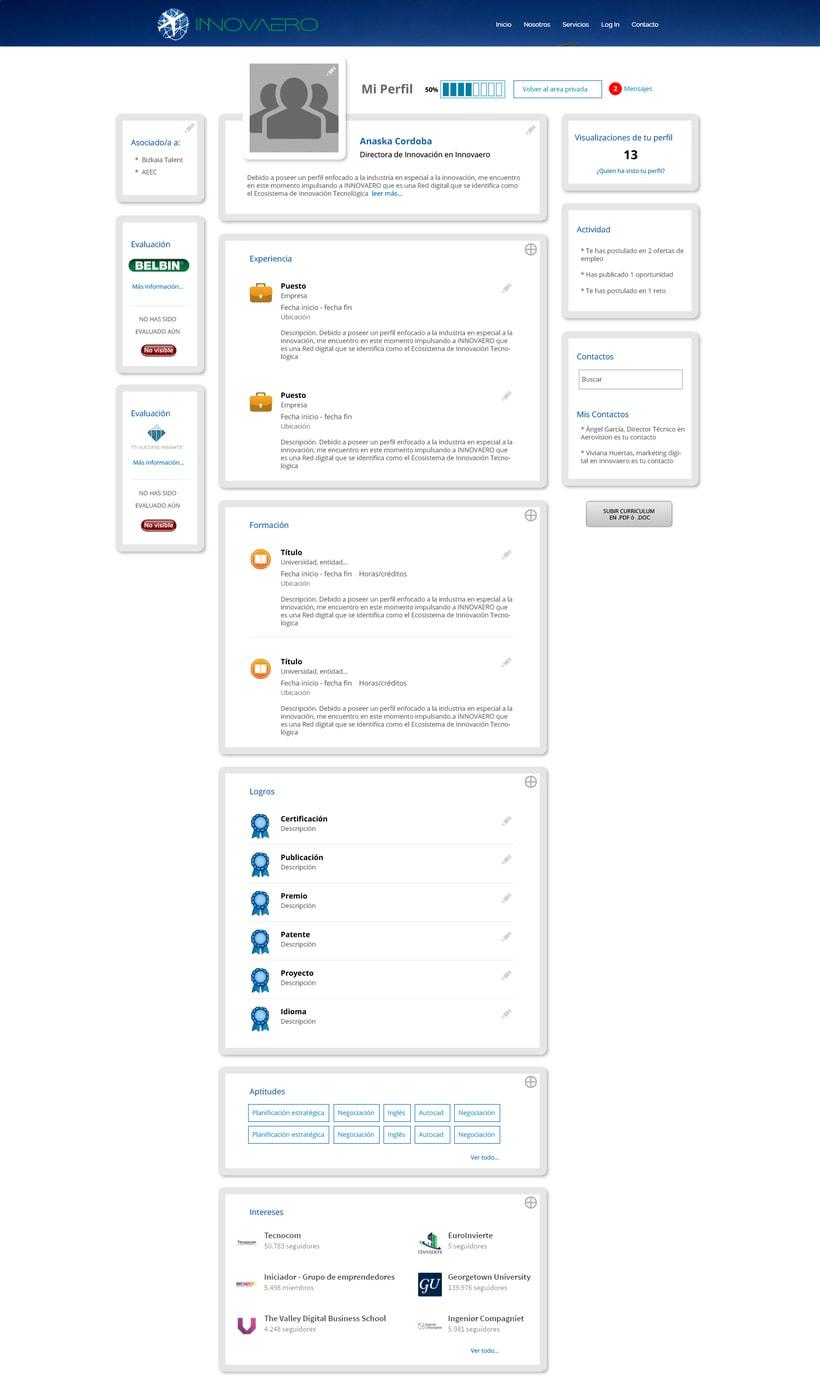 Diseño web lógico y visual: Innovaero.com 3