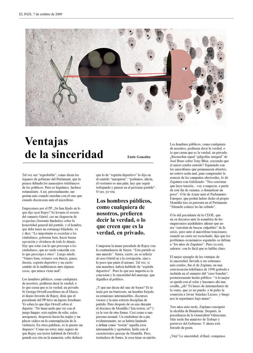 Ilustración Editorial: Ventajas de la sinceridad 0