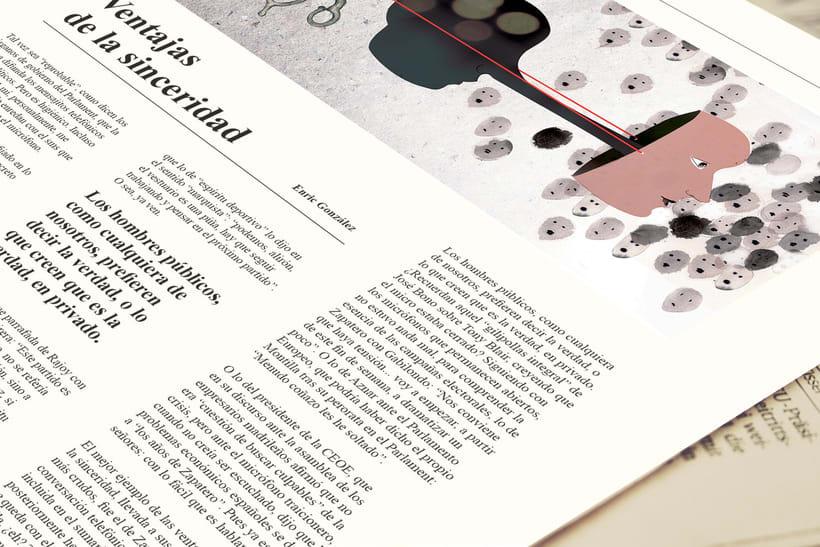 Ilustración Editorial: Ventajas de la sinceridad 1