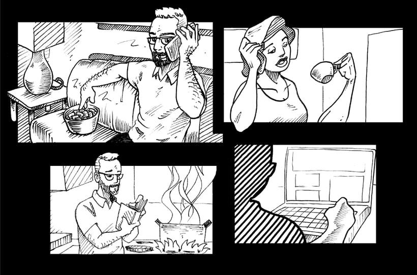"""STORYBOARD """"SPOT A HOME"""". AGENCIA: (Cliente directo) PRODUCTORA: Vietnam Estudio 4"""