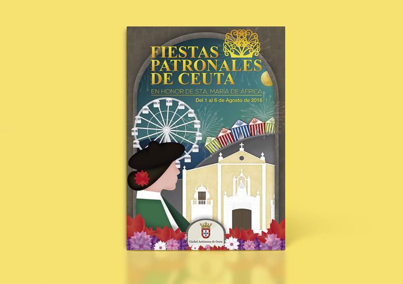 Cartel  Fiestas patronales de Ceuta 2016 1