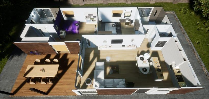Casa Modular, Unreal Engine 4 3
