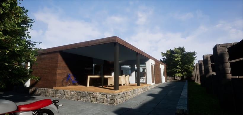 Casa Modular, Unreal Engine 4 4