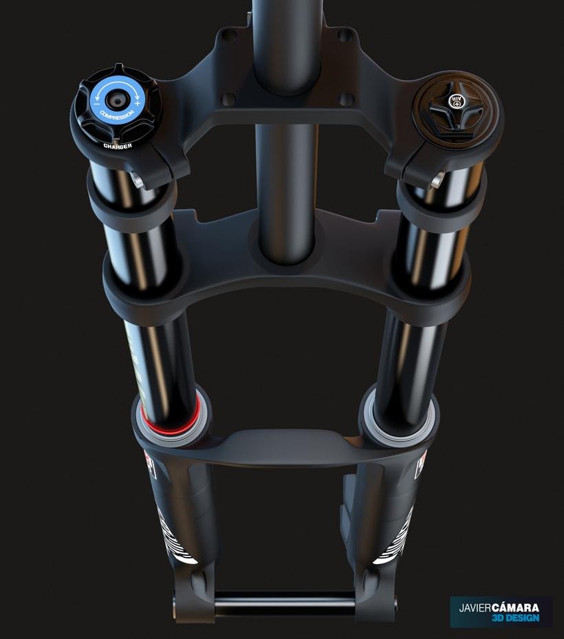 3D Modeling - Downhill Fork Rock Shox Boxxer 0