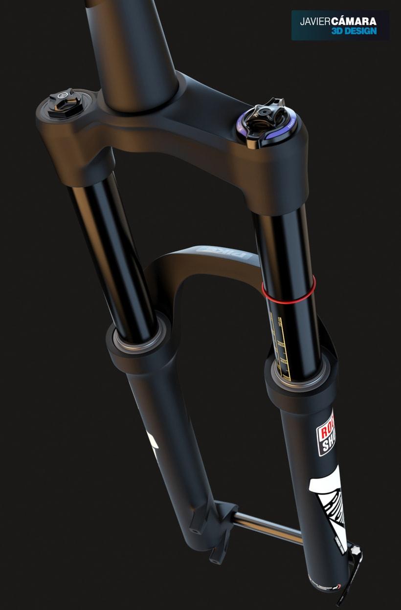 3D Modeling - Enduro Fork Rock Shox Pike 1
