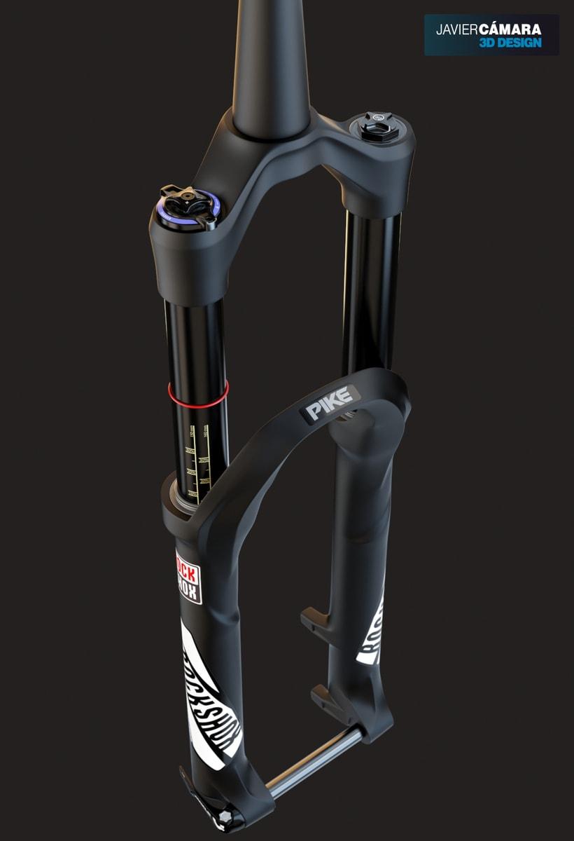 3D Modeling - Enduro Fork Rock Shox Pike 0