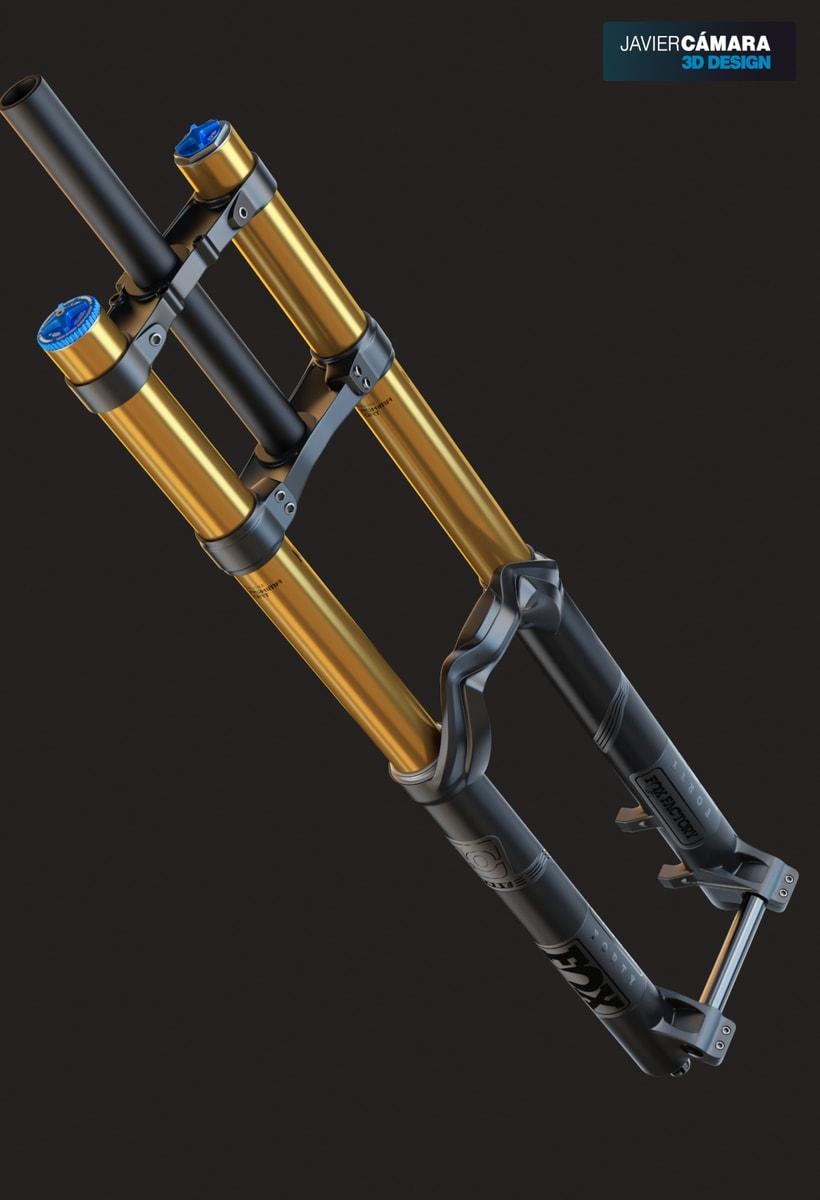 3D Modeling - Downhill Fork Fox 40 -1