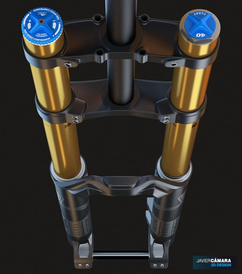 3D Modeling - Downhill Fork Fox 40 0