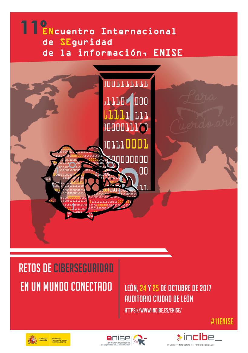 Cartel para el concurso de ciberseguridad de Incibe (2017) 0