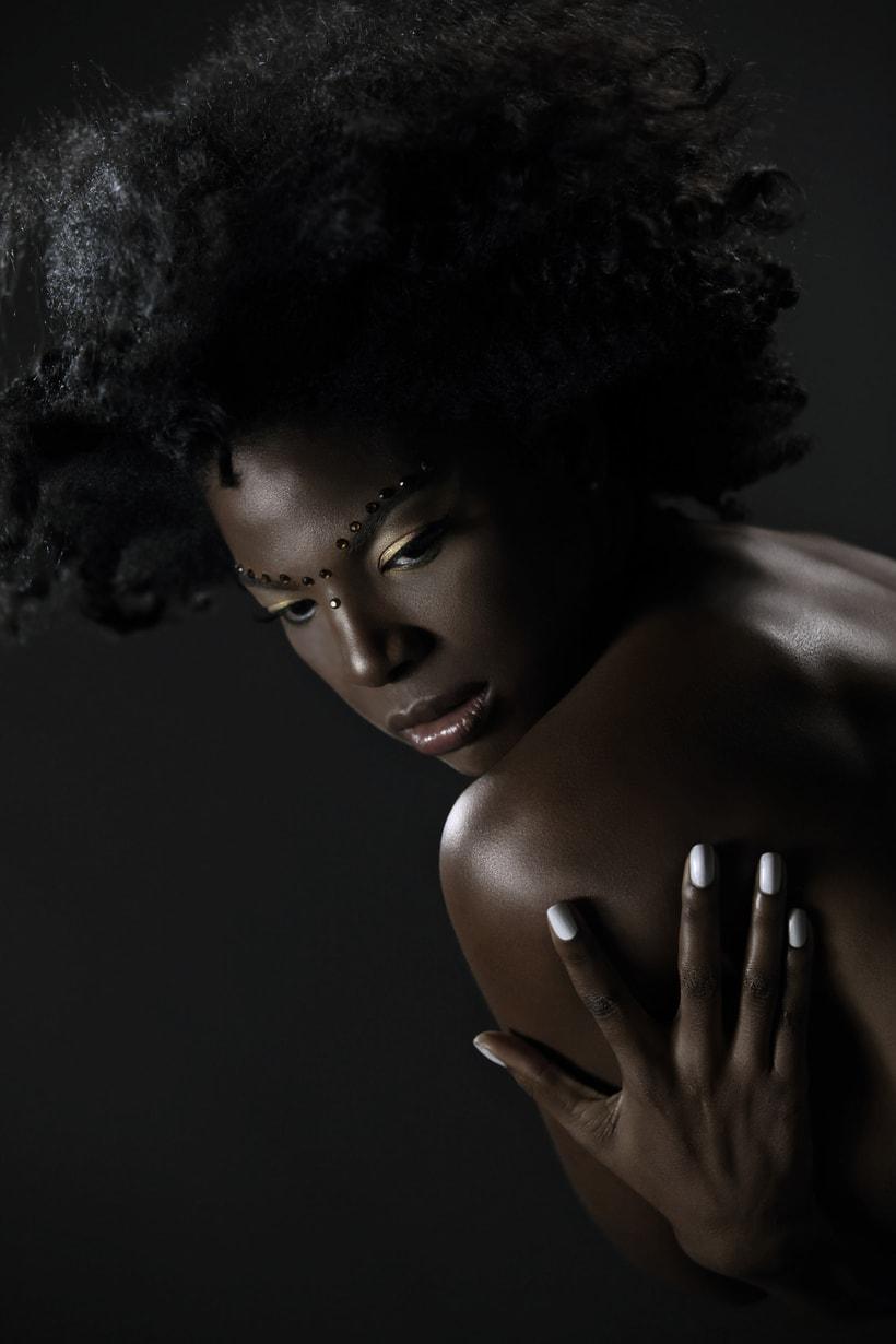 Dark skin retouch.  2