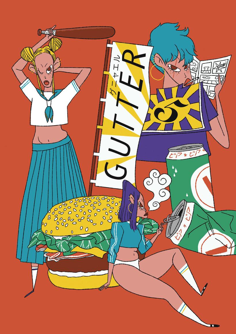 Cartel expo GUTTER Fest. -1