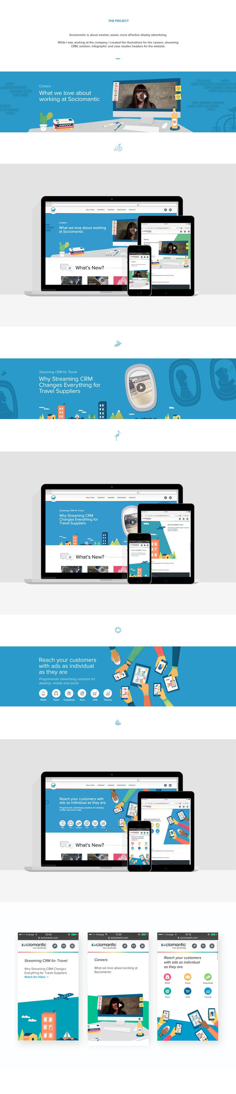 Ilustraciones para la página web de Sociomantic Labs. -1