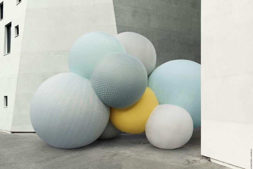 Charles Pétillon crea poesía fotográfica con globos 1