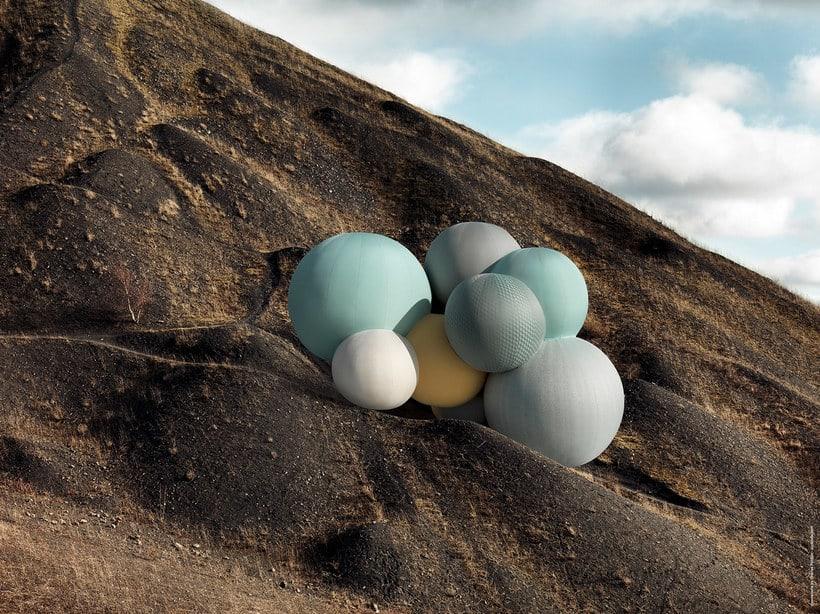 Charles Pétillon crea poesía fotográfica con globos 16