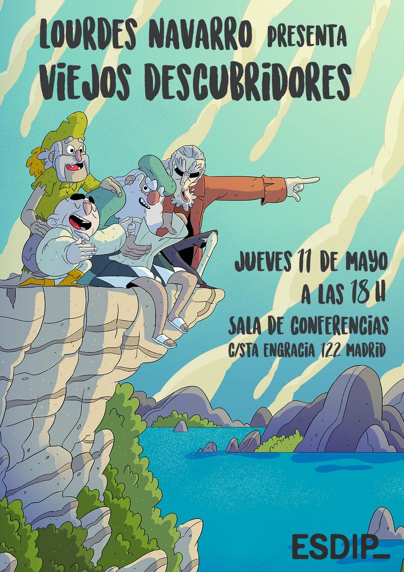 """Lourdes Navarro presenta el cómic""""Viejos Descubridores"""" 1"""