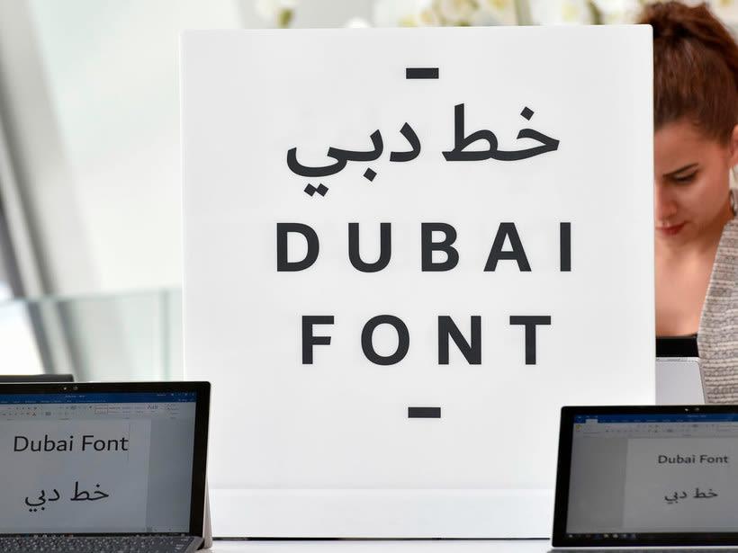 Dubái, la primera ciudad en diseñar su propia tipografía 1