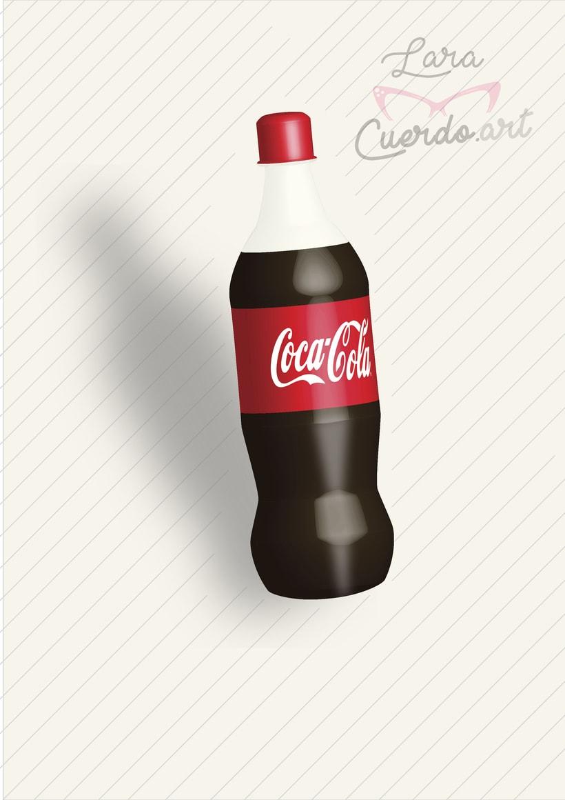 Botella Cocacola 3D 0