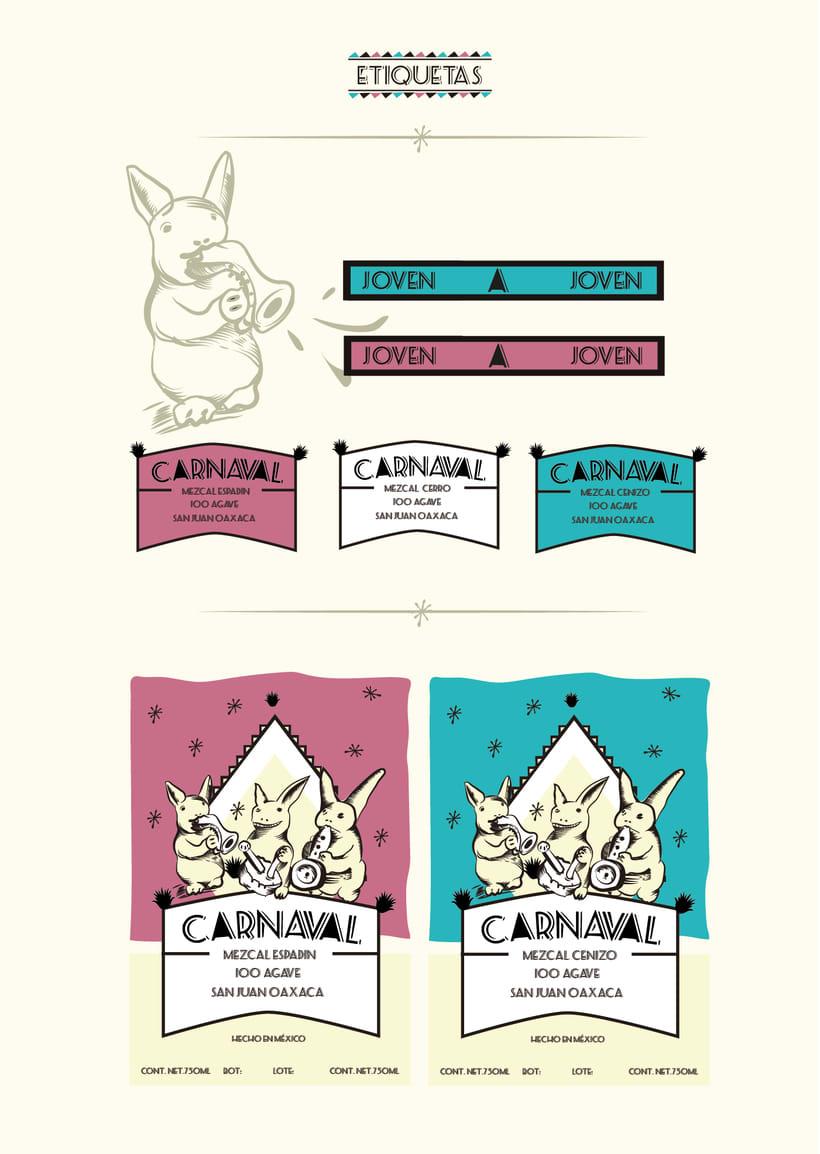 "Etiqueta y envase ""Mezcal Carnaval"" 1"
