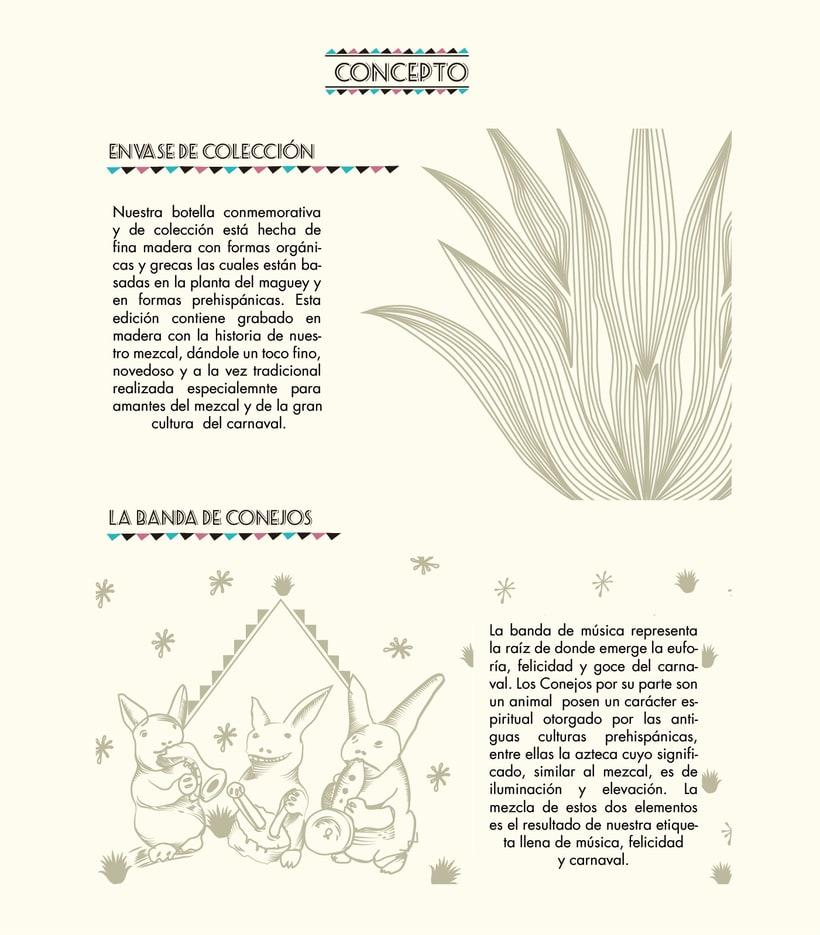 "Etiqueta y envase ""Mezcal Carnaval"" 3"