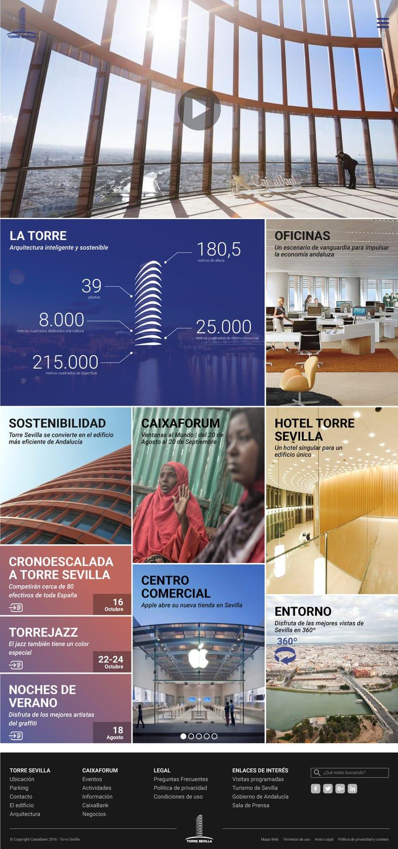 Proyecto presentado a Caixabank para el site de Torre Sevilla 1