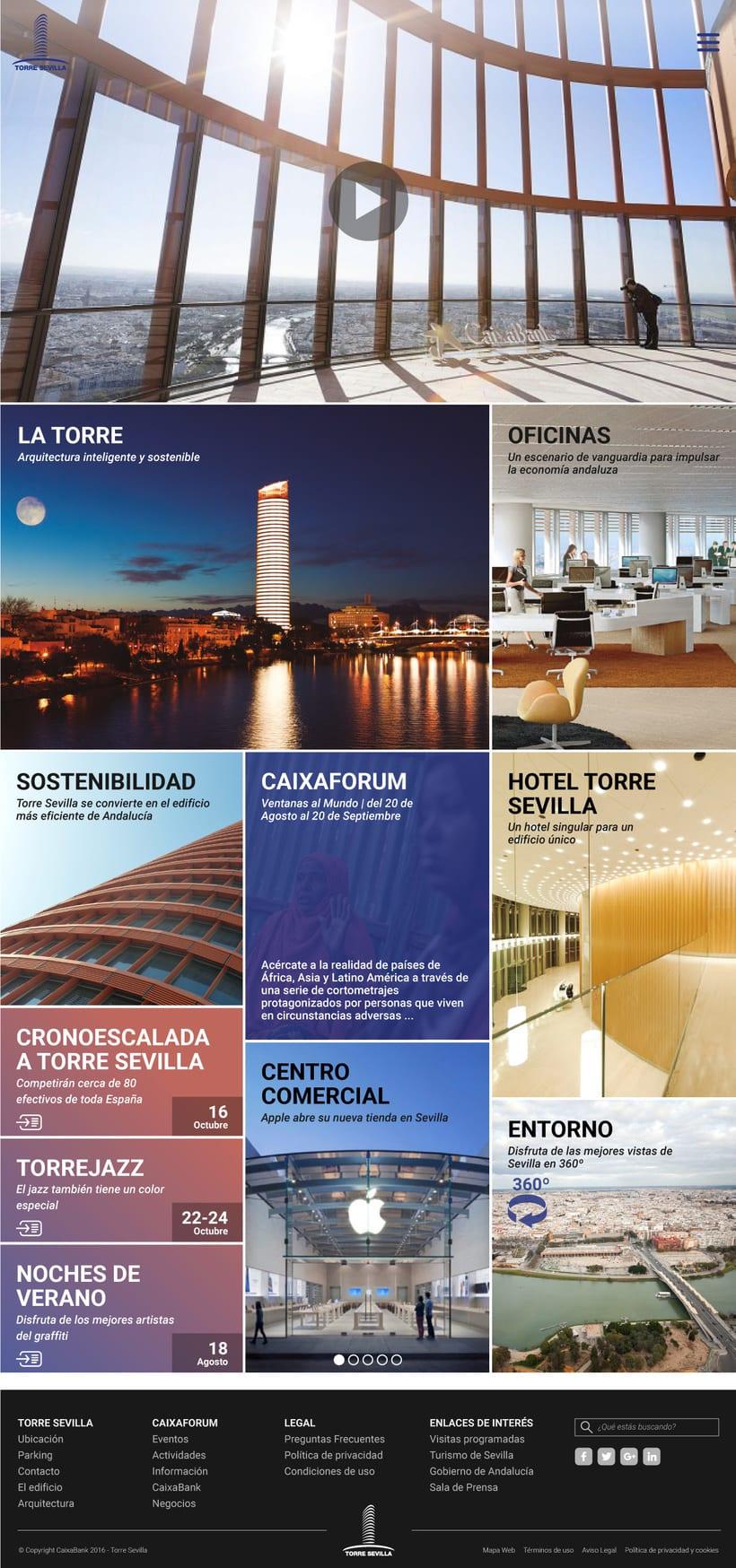 Proyecto presentado a Caixabank para el site de Torre Sevilla 2