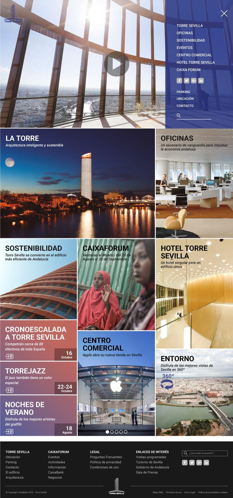 Proyecto presentado a Caixabank para el site de Torre Sevilla 3