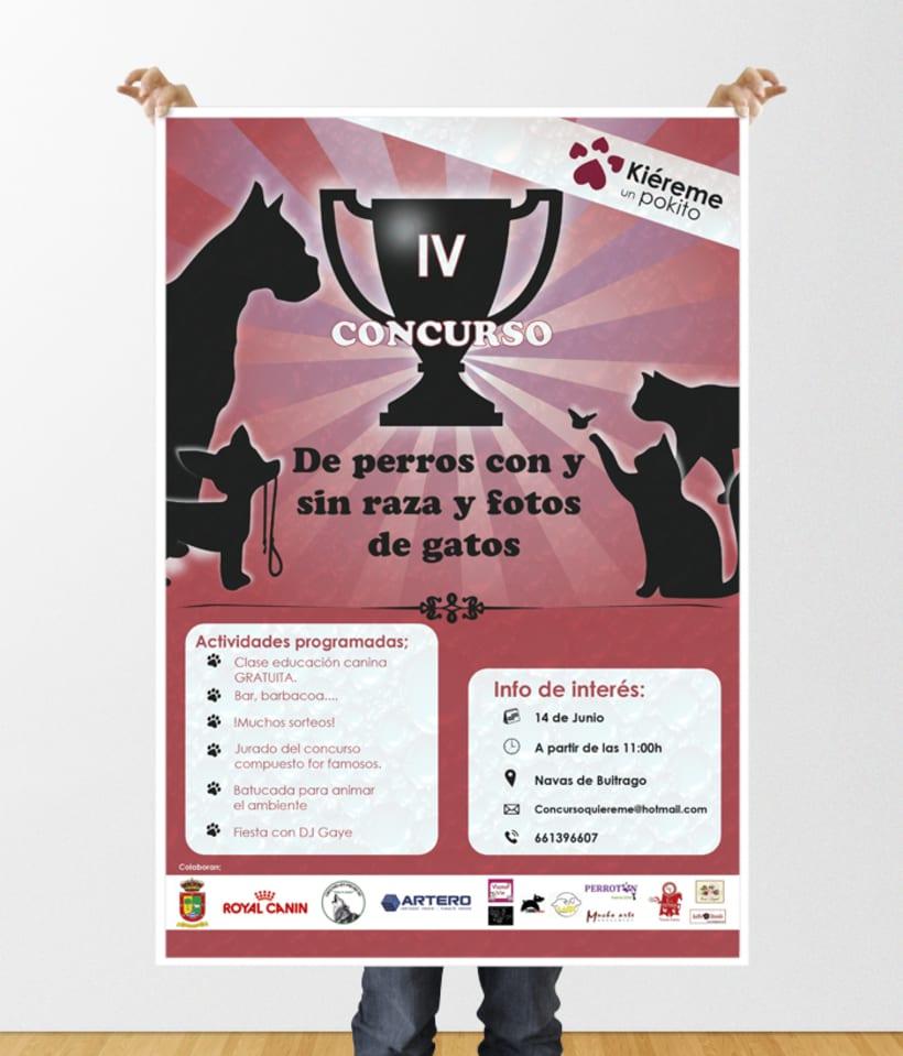 """Poster colaboración """"Kiéreme un pokito"""" 1"""