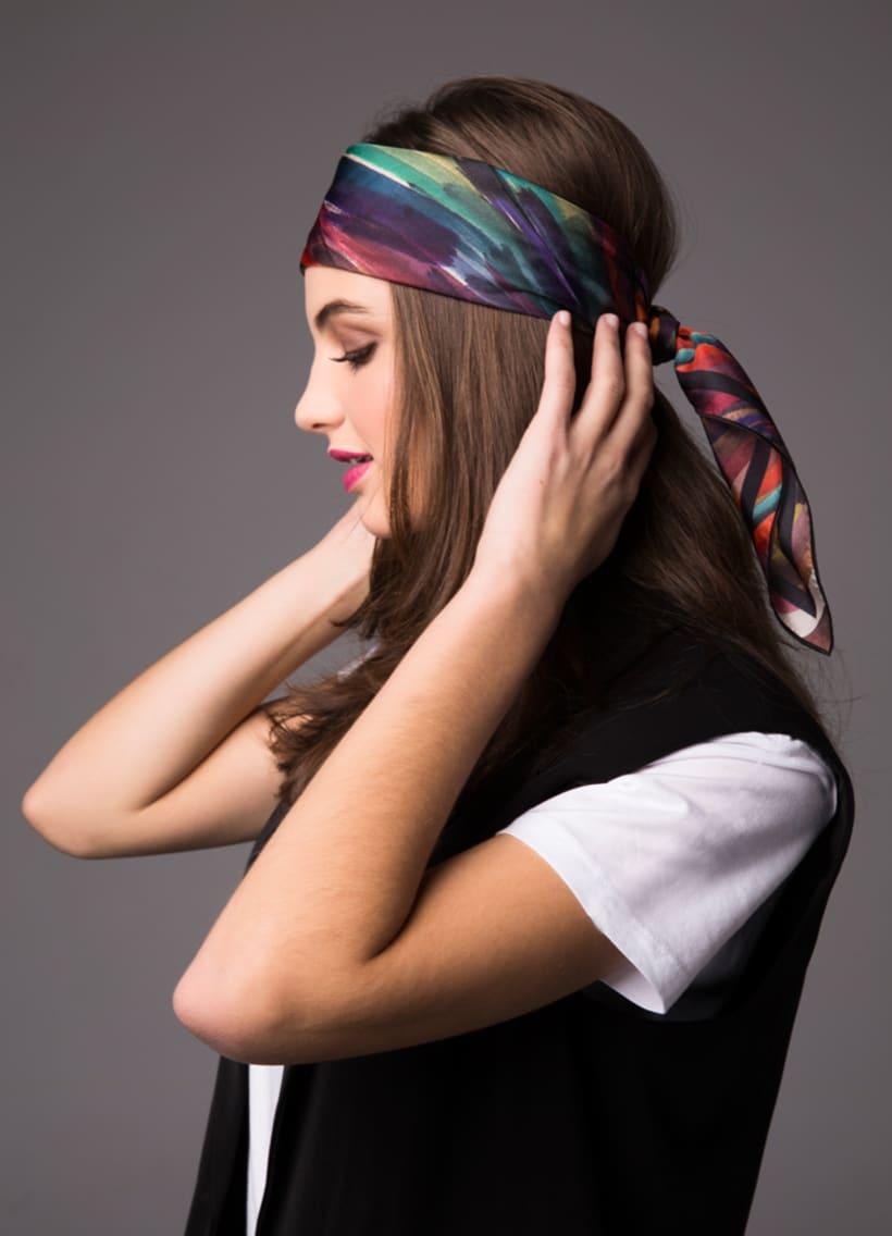 Diseño de estampado para pañuelos de seda 2
