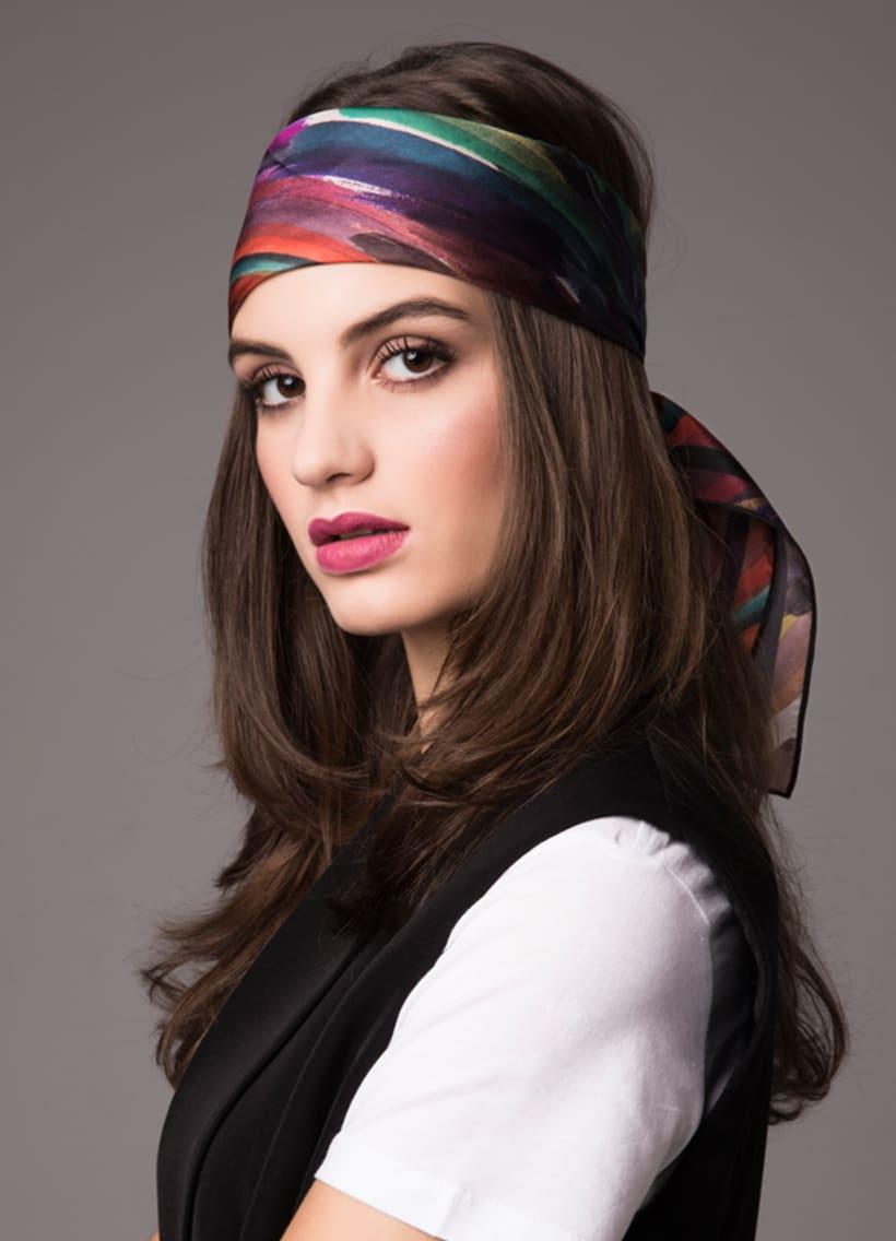 Diseño de estampado para pañuelos de seda 1