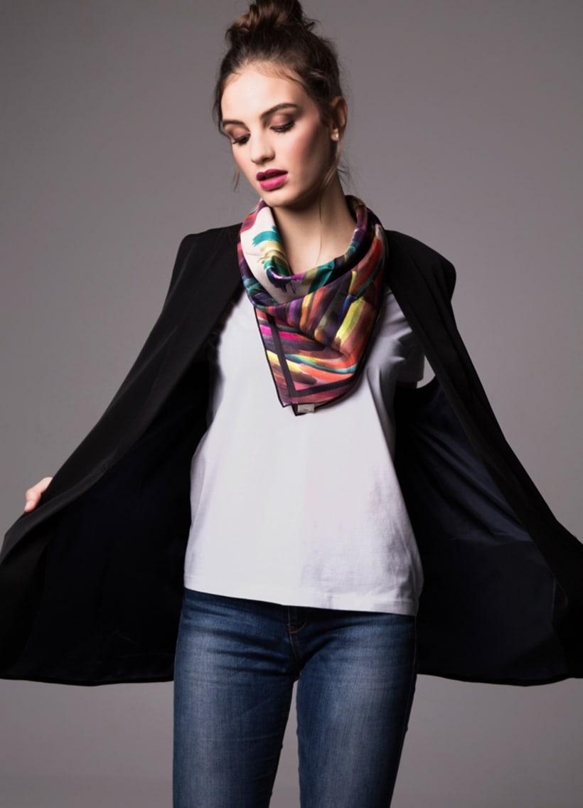 Diseño de estampado para pañuelos de seda 3