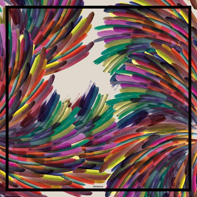 Diseño de estampado para pañuelos de seda 0