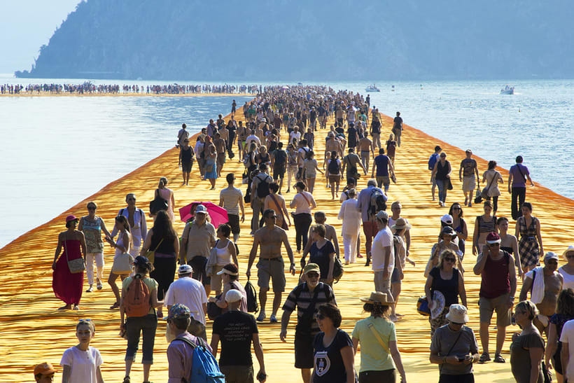 the floating piers  (Iseo lake, Italy) 7