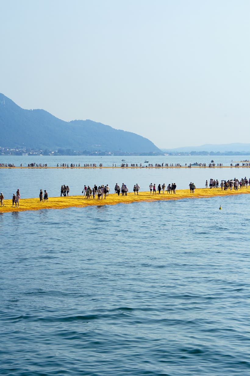 the floating piers  (Iseo lake, Italy) 6