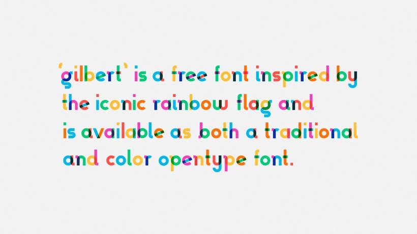 Descubre la tipografía inspirada en la bandera arcoíris de Gilbert Baker 3