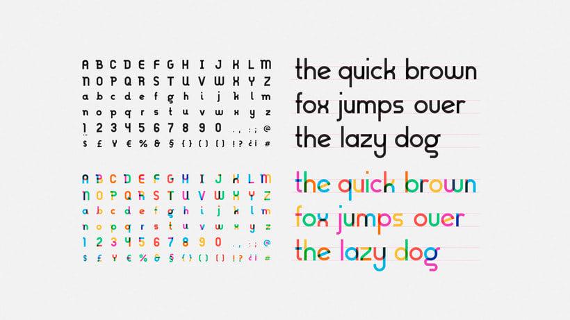 Descubre la tipografía inspirada en la bandera arcoíris de Gilbert Baker 6